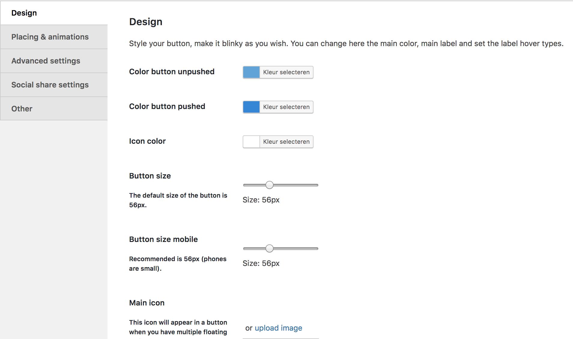 Features - Buttonizer